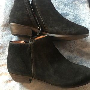 Softwalk Rocklin Black Suede Boot Size 11W